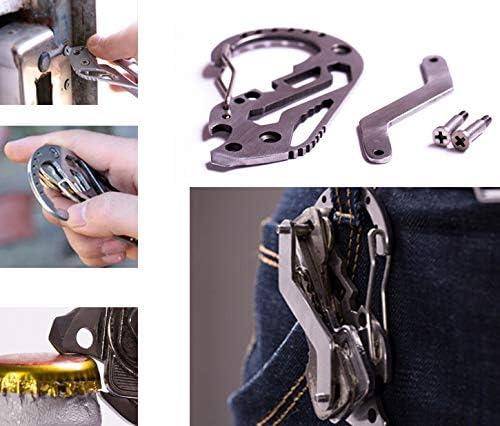 Amazon.com: EDC Holder Clip Gadget Quickdraw Multipurpose Hanger Buckle Climb Tool Multi Tool Utility Carabiner Camp Key Organizer Pocket: Sports & Outdoors