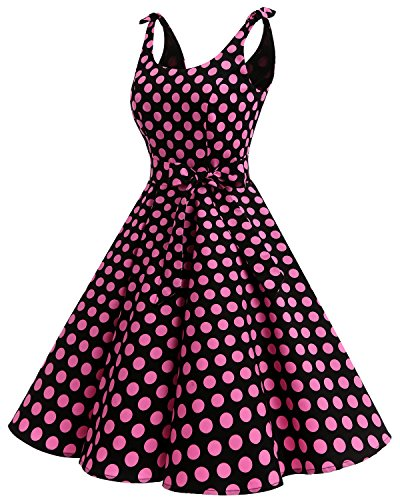 de Audrey Bbonlinedress 1950's Anne Rtro Rockabilly Rose noir Robe 50 Cocktail Vintage Soire Hepburn xqTUYZ