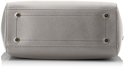 Trussardi Jeans Ischia Shopping, Borsa a Spalla Donna, 41x32x16 cm (W x H x L) Grigio (Gunmetal)