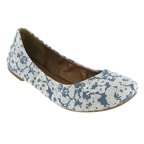 Lucky Brand Emmie Riviera Floral Flats Women Size 10 M