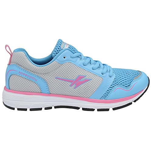Gola Speedplay, Women's Running Shoes Pink, Blue, Silver & Meta