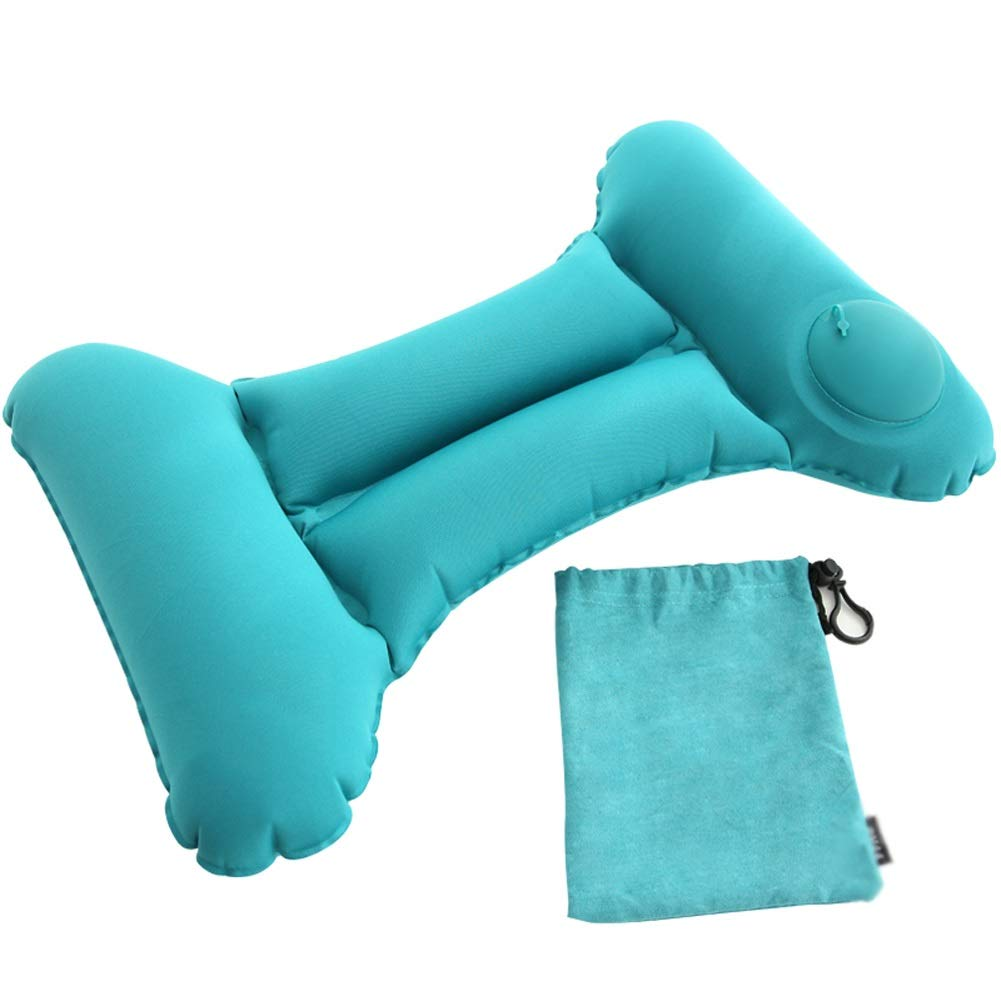 ZOUBIAG Inflatable Lumbar Pillow Press Portable Travel Essential (Color : Blue, Size : A) by ZOUBIAG