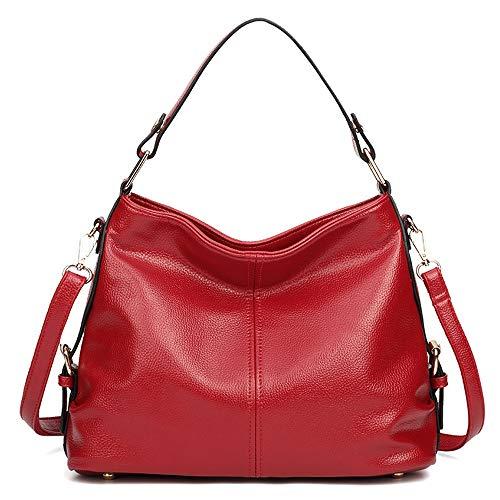 Borsa morbida grande borsa blu donna tracolla pelle colore a capacità a Rosso unica nappa taglia tracolla scuro in in borse e con Mxl PFPAr