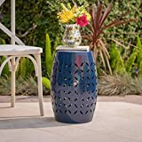 GDF Studio Lilly Outdoor 12″ Dark Blue Iron Side Table Review