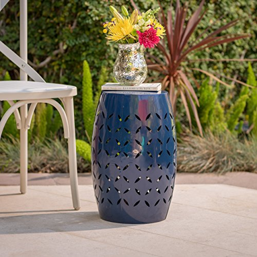 Lilly Outdoor 12 Dark Blue Iron Side Table ()
