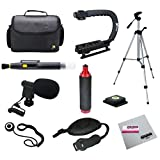 Opteka Videographers Deluxe Kit with VM-8 Microphone, Case, Tripod, X-Grip and More for Canon, Nikon, Sony and Pentax Digital SLR Cameras