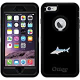 Tribal Shark design on Black OtterBox Defender Series Case for iPhone 6 Plus and iPhone 6s Plus