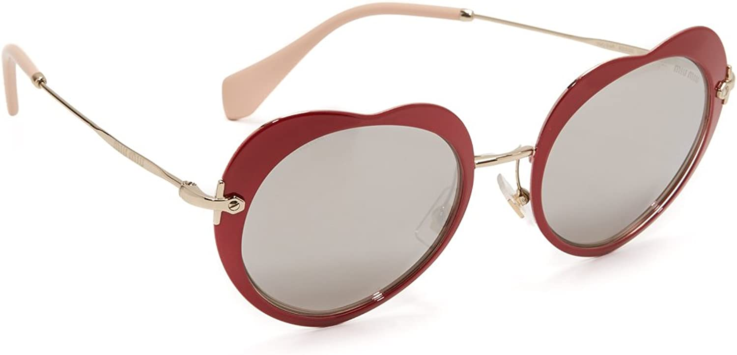 Miu Miu Sonnenbrille Core Collection (MU 54RS) Rouge (Red/Lightgreymirrorsilver)