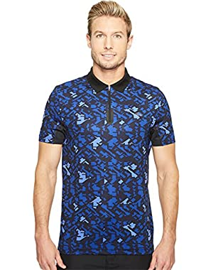 Mens Performance Ultra Dry Stretch All Over Pattern Polo