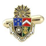 Express Design Group Delta Tau Delta DTD Color Crest Cuff links