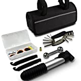 GoTravel2 Mini Bike Repair Tool kit with Pump - Mini Bicycle Repair Tool kit with Pump,16 in 1 Bicycle Essential Multi Tools Set (Bike Repair Tools)