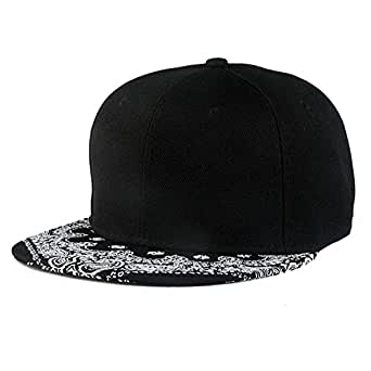 Foreverstore Unisex Black Snapback Bboy Hiphop Hat Adjustable Baseball Cap Caps