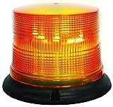 HELLA H27115001 K-LED 40 Compact Fixed Mount Beacon Warning Light, Flashing Patterns, Waterproof, 11-110VDC, Amber