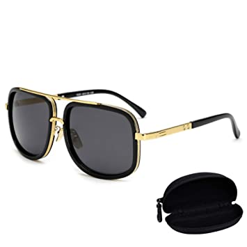 sijiaqi Hombres de Gran tamaño Mach One Sunglasses Hombres ...
