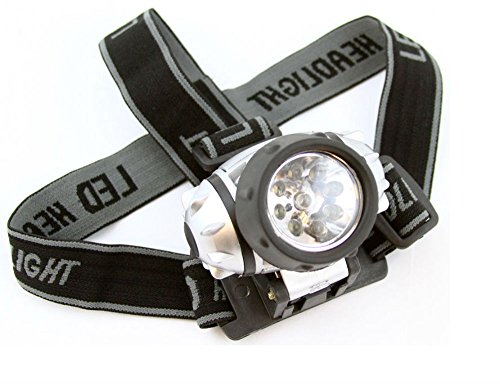 9 LED Headlamp Mining Hiking Camping Head Gear Safety Tools Bike Night Light by Unknown