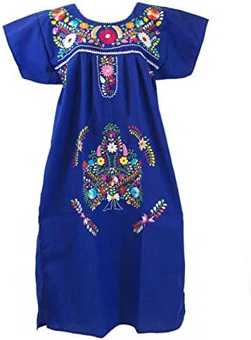Leos Mexican Imports Women's Mexican Puebla Dress