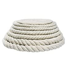 "West Coast Paracord Original Natural Cotton Rope - Choose from 3/4"", 11/16"", 5/8"", 1/2"", 3/8"", 5/16"", 7/32"", 3/16"" Sizes - Available in 10, 25, 50, 100 Foot Lengths"