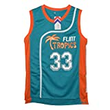 MOLPE Men's Jackie Moon 33 'Flint Tropics' Basketball Jersey S-XXXL Green (M)