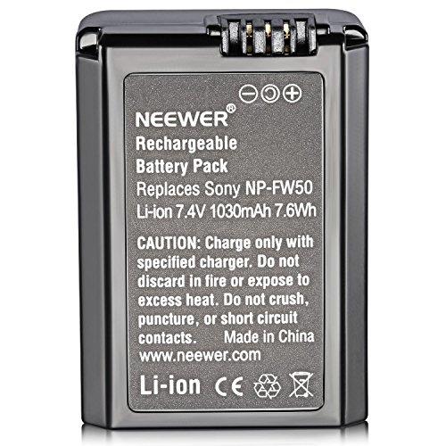 Neewer - Batería de Reemplazo FW50  7,2V 1080mAh, para Cámara Sony