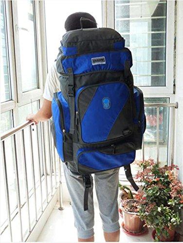 ysayc montañismo bolsa 80Liter gran capacidad lona bolso de hombro hombres y mujeres mochila de viaje al aire libre Viajes paquete