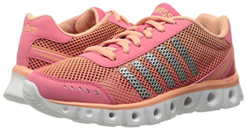 K-Swiss Women's X Lite Athletic CMF Cross-Trainer Shoe, Camellia Rose/Papaya Punch, 6 M US