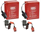 6 volt fisher price charger - Power Wheels 2 Pack of 6 Volt Red Batteries and 2 6 Volt Chargers