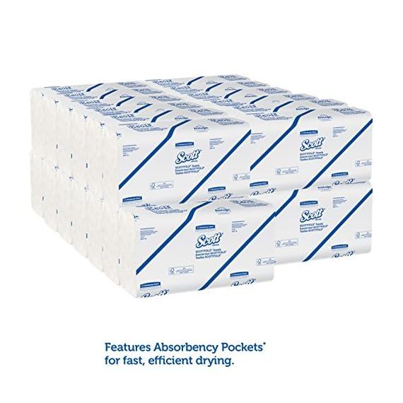 Scott Multi Fold Hand Towel 28610 - M Fold Paper Towel - 16 Packs x 250 Sheets - White Folded Paper Towel Sheets 24 cm X 23.1 cm (4000 Total) 4