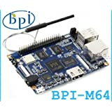 Quad-core 64-bit 2GB DDR 8GB EMMC Bluetooth WIFI with antenna BPI-M64 banana pi M64 motherboard