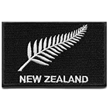 New Zealand silver fern flag embroidered applique iron-on patch S-1438