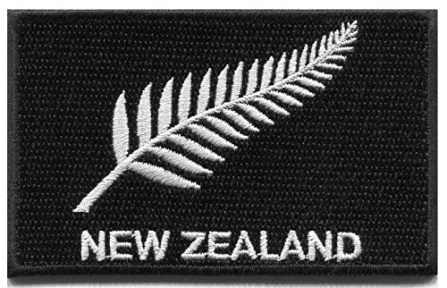 New Zealand silver fern flag embroidered applique iron-on patch (Fern Patch)