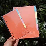 5Pcs A5/A6 Size Blank Index Multi-Coloured Tabs Divider Insert Refill Organiser Size:A6