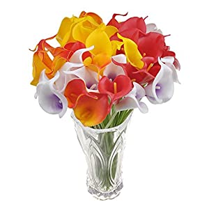 10x Artificial Calla Lily Flowers for Wedding Bridal Bouquet Home Decorations Indoors Outdoors 5