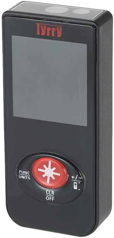 TnSok Telémetros láser Portable del Metro De Distancia del Telémetro De Carga USB Pantalla A Color TFT Display Instrumento De Construcción Digital Telémetro Distancia (Color : Black, Size : A)