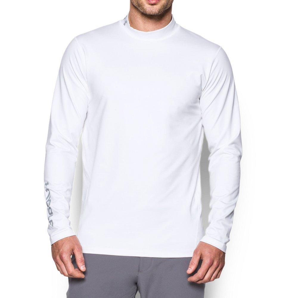 Under Armour Men's Golf ColdGear Mock, White (100), X-Large
