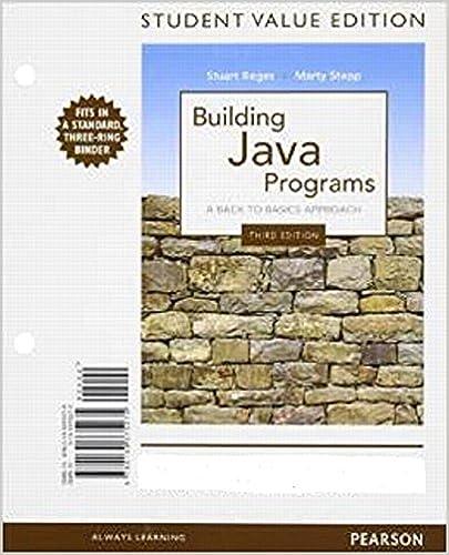 Building Java Programs (3rd Edition): Reges, Stuart, Stepp ...