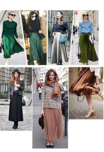 Promotions Femmes Demi lastique Haute Lady Light Noir Printemps Mode Rose Longueur Grey Plisse Et Taille Automne Jupe Couleur Unie zwqt7OqBnx