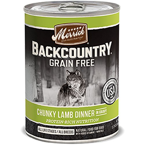 MERRICK PET FOOD BACKCOUNTRY CHUNKY LAMB