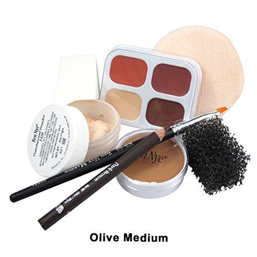Ben Nye Creme Foundation (Ben Nye Women's Olive Fair Medium Creme Personal Kit One Size Fits Most)