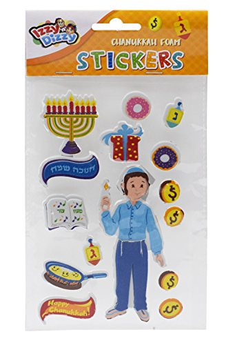 Chanukah Foam Stickers - Dreidels, Menorahs and More - Hanukah Stationary, Arts and Crafts - Gifts and Games by Izzy 'n' Dizzy ()