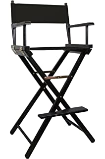 black premium tall makeup chair with