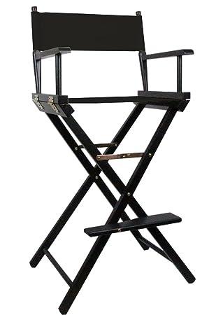 Merveilleux Black Premium Tall Makeup Chair With Personalisation