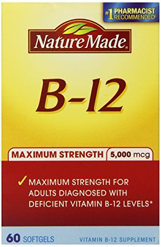 Nature Made Maximum Strength Vitamin B-12 Soft gel, 5000 mcg, 60 Count (Pack of 3)