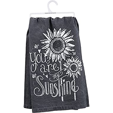 Primitives By Kathy My Sunshine Dish Towel, Black, 28  Square