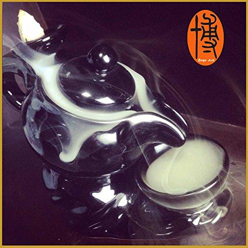 Hand Make Incense Cone Burner Chinese Tea Pot Burner Holder+30 pcs Incense Cones Free Gift (Incense Burner Pot)