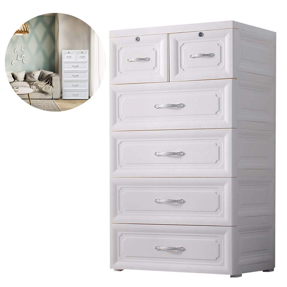 Amazon com nafenai 4 drawer dresser with 2 storage cabinets large size multi storey locker for bedroom office home 1 home kitchen