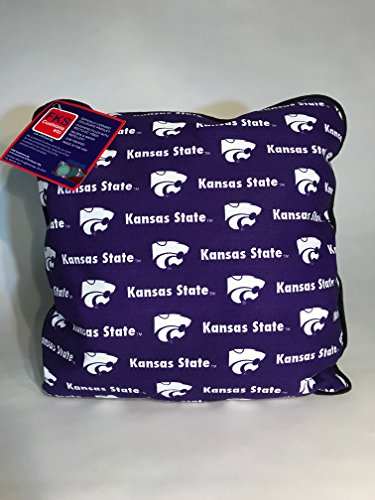 (FKS Cushions, Etc. Officially Licensed College Throw Pillows-NCAA Decorative Accent Pillows (Kansas State)