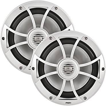 Wet Sounds 600W 8 Inch 2-Way Convertible Component Marine Speakers   XS-808-S