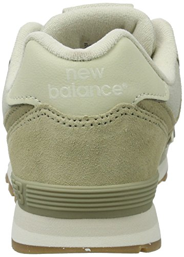 New Balance 574 Leather Mesh, Zapatillas Unisex Niños Marrón (Light Khaki)