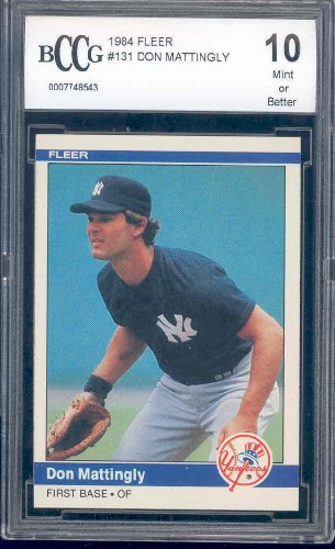 1984 Fleer Rookie #131 DON MATTINGLY RC BGS BCCG 10 Dodgers