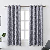 MYSKY HOME Grey Blackout Curtains Set of 2 for Living Room by Geometric Lines Design Printed Blackout Thermal Insulated Drapes for Bedroom (Grey, 52 Inch Width by 63 Inch Length, One Pair) Review